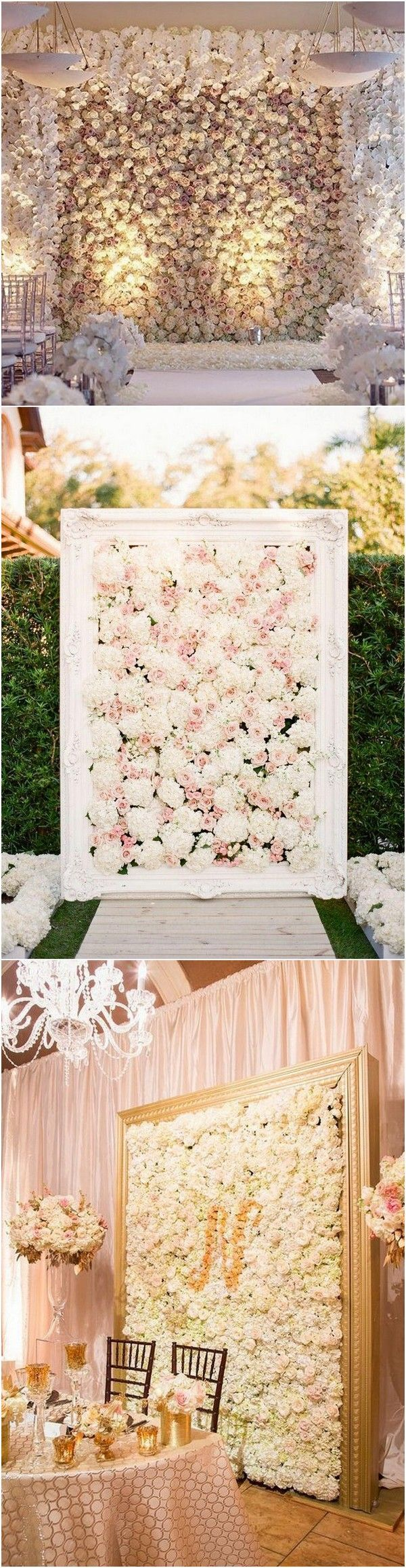 Wedding room decoration ideas 2018   Brilliant Flower Wall Wedding Backdrops for   Pelamin