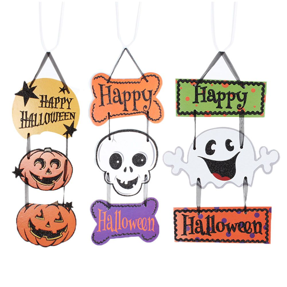 Cute Halloween Decoration Hanging Hang Tag Window Door Decor Pumpkin - Ghost Halloween Decorations