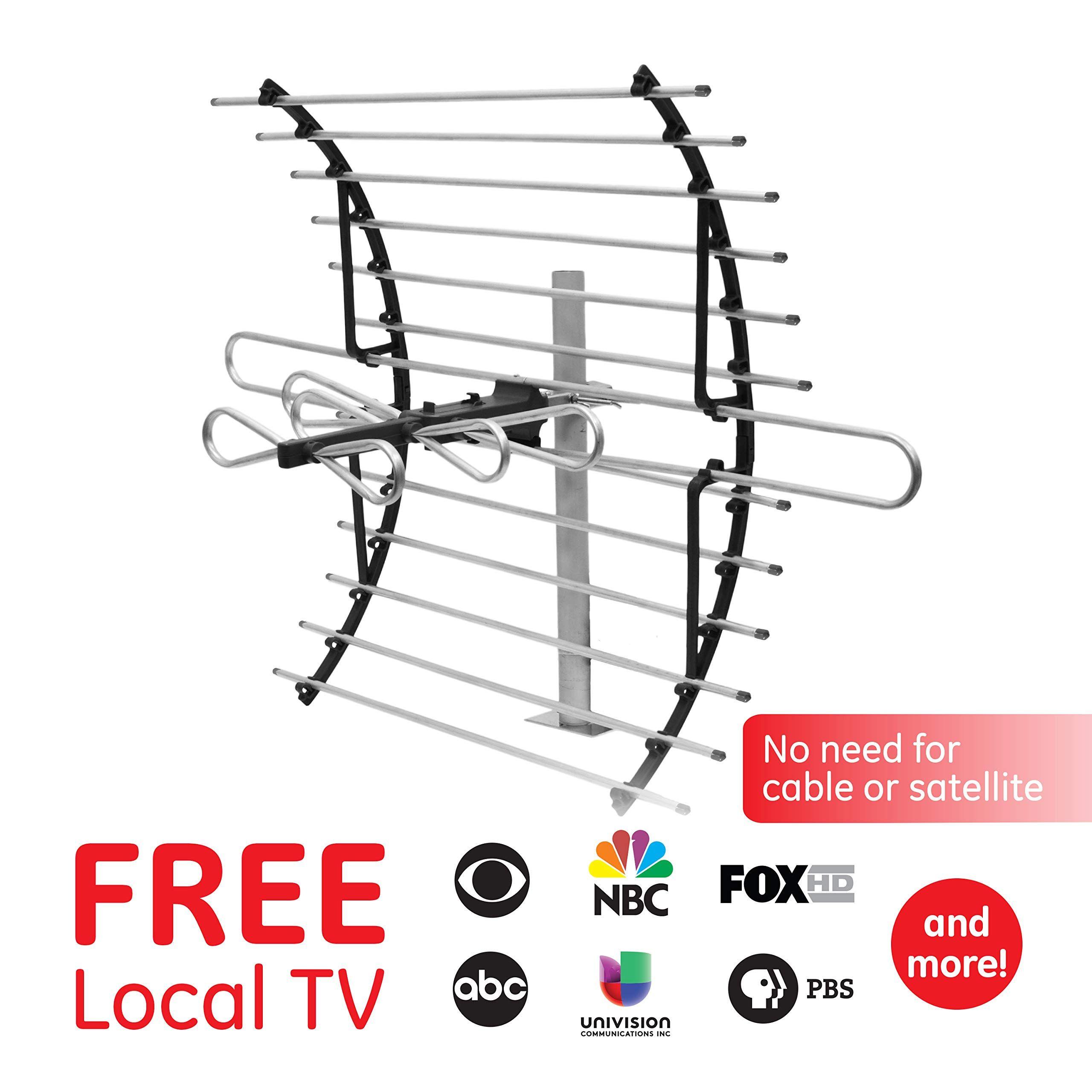Ge Pro Attic Mount Tv Antenna Attic Long Range Antenna Directional Antenna Digital Hdtv Antenna 4k 1080p Vhf Uhf Compact Antenna Tv Antenna Hdtv Antenna