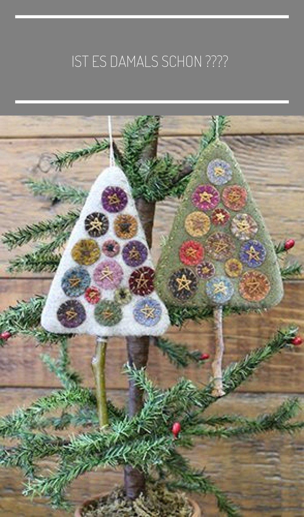Ist Es Damals Schon Damals Es Ist Schon Tree Adornos De Navidad De Patchwork In 2020 Felt Christmas Ornaments Felt Christmas Decorations Christmas Crafts