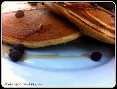 Clean Carob Chip Protein Pancakes