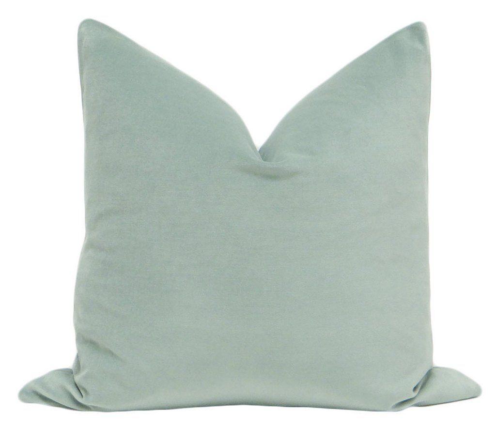 Cotton velvet jade pillows little design co pinterest