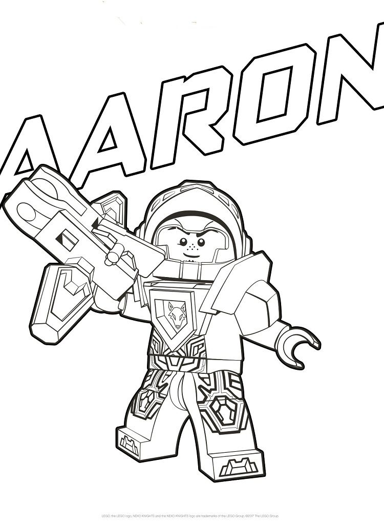 Nexo Knights Aaron Coloring Pages Coloring Pages Lego Coloring