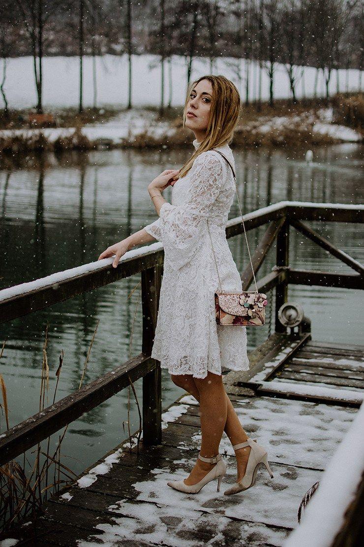 little white dress winter edition - my café au lait   weißes