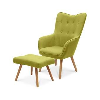 Jolene Lounge Chair and Footstool | Wingback chair ...