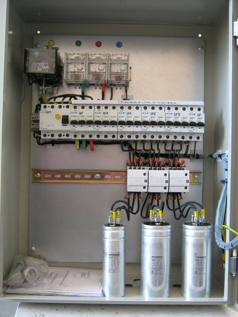 Capacitor Units For Reactive Power Compensation Home Electrical Wiring Electrical Wiring Electrical Projects