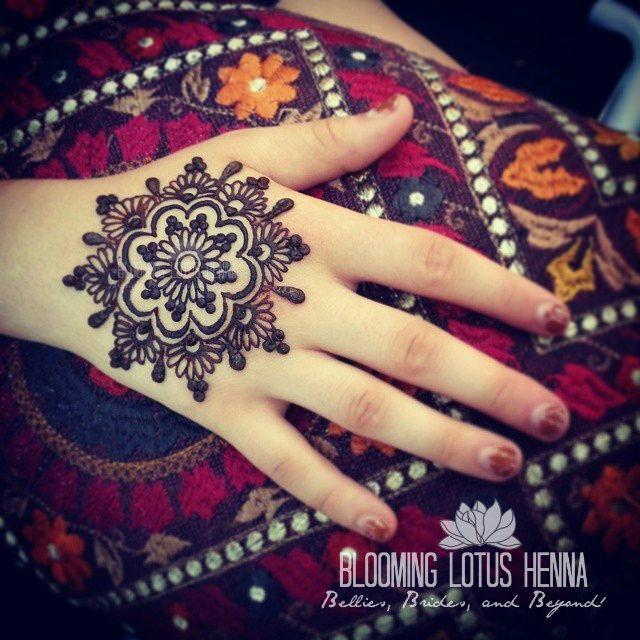 Mehndi Designs Mandala : Indian mandala henna hand bloominglotushenna