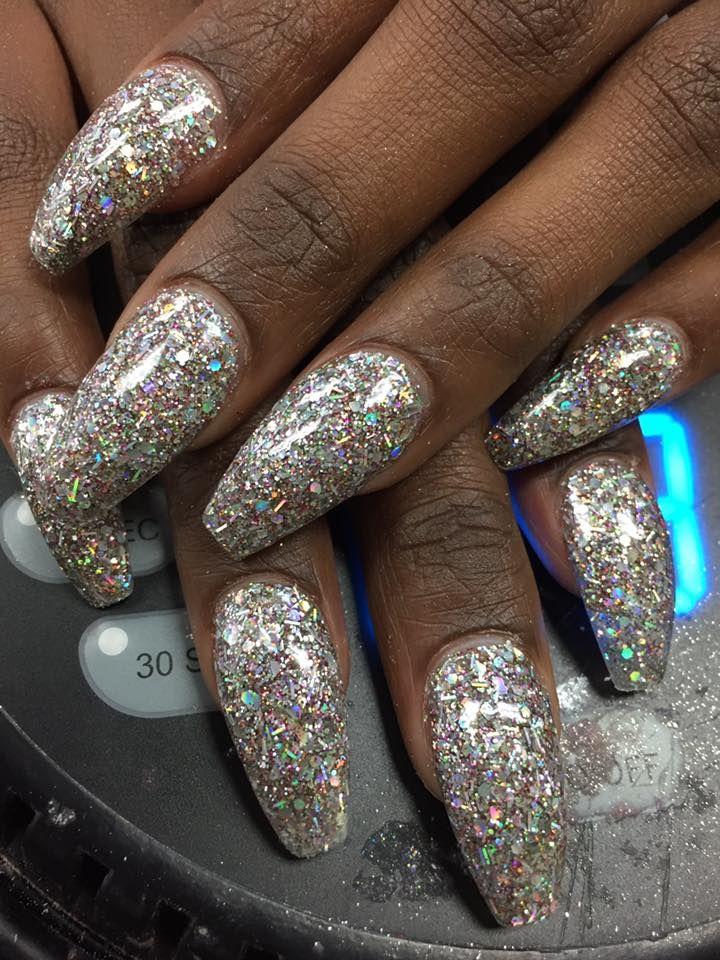bling nails, bling nail art, glitter nails, rhinestone ...