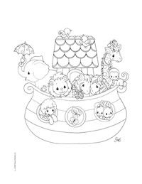 precious moments jesus loves me coloring pages | Precious Moments Coloring Pages: Noah | Precious Moments ...
