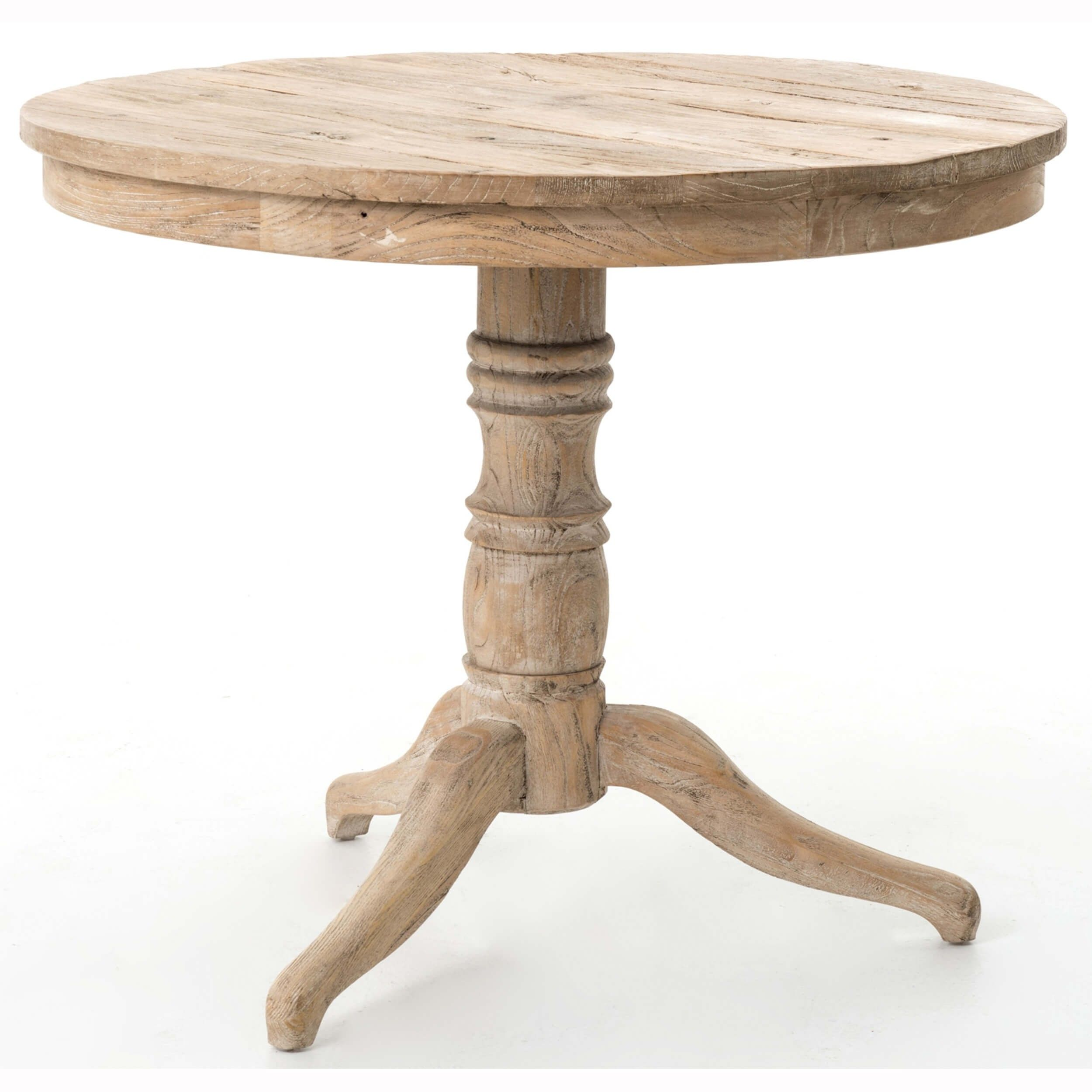 Round Occasional Table Whitewash Accent Tables Furniture