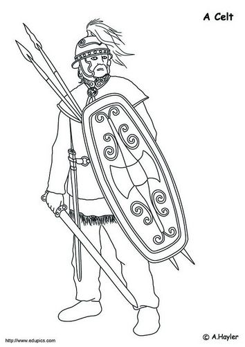 Coloring Page Celt Coloring Pages Warrior Drawing Cool