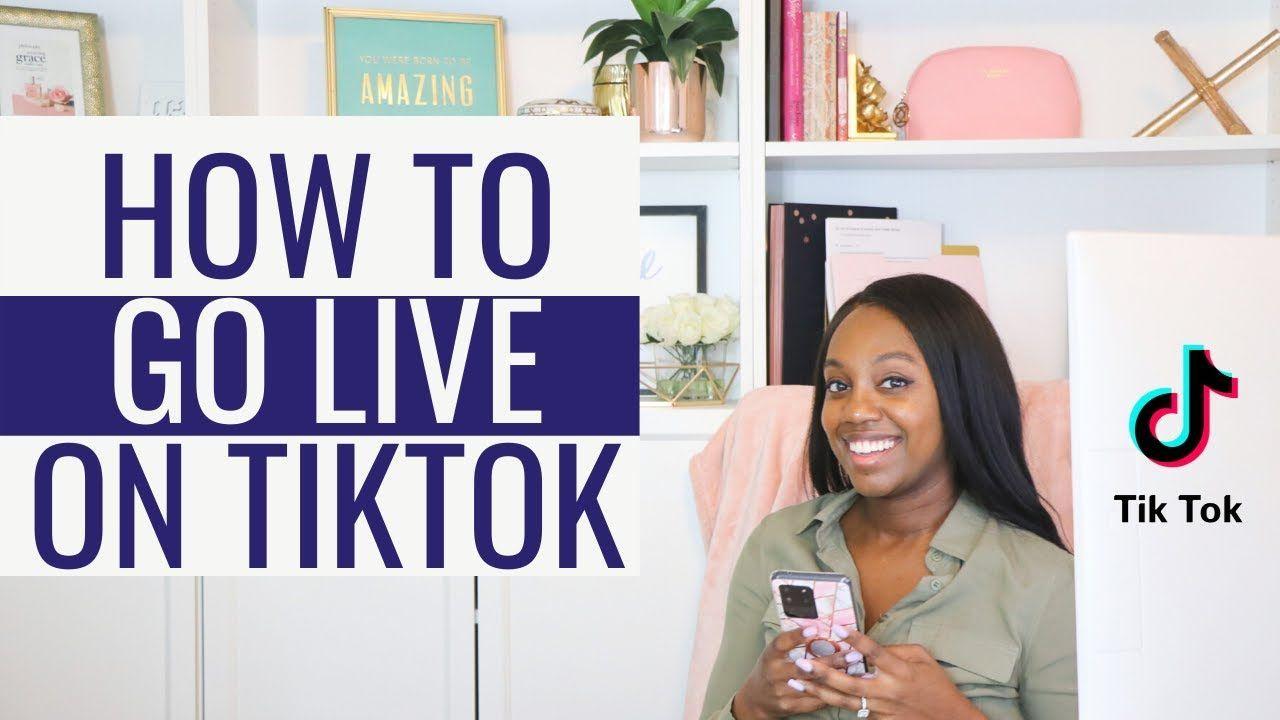 How To Go Live On Tiktok Blog Social Media Social Media About Me Blog