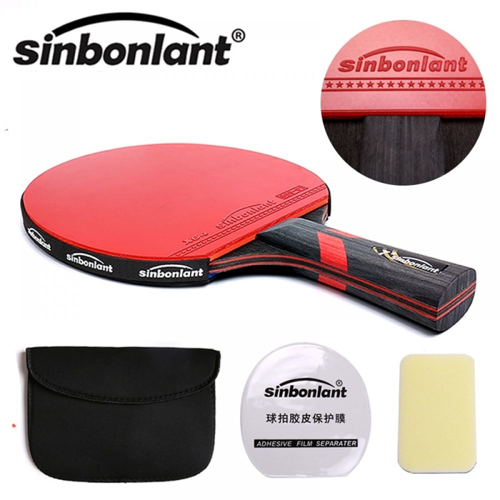 Tennis Table Racket Long Handle Short Handle Carbon Blade Rubber With Double Face Pimples In Ping Pong Rackets With Case Sports In 2020 Ping Pong Table Tennis Table Tennis Table Tennis Racket