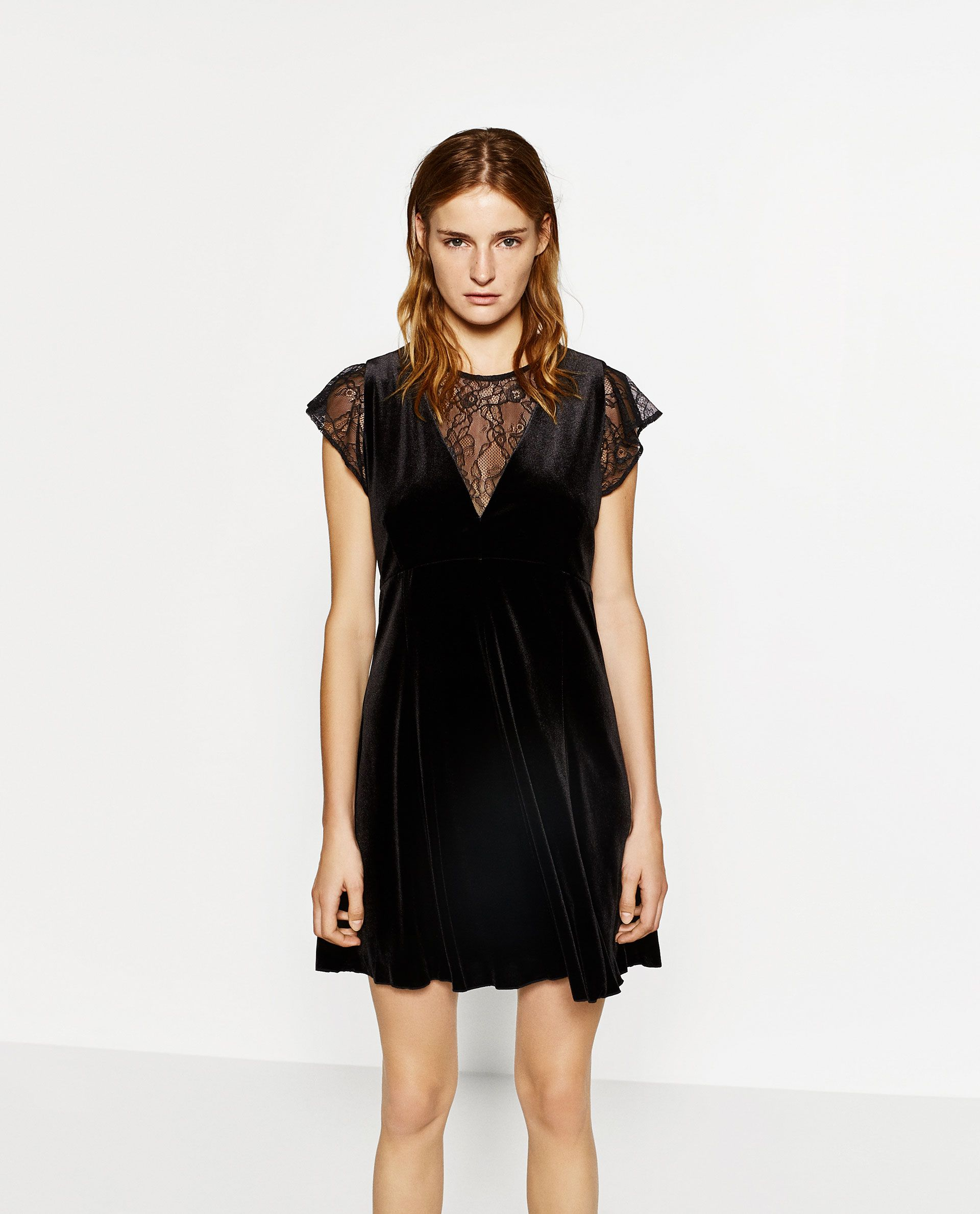 ZARA - WOMAN - VELVET DRESS  Das kleine schwarze, Kleines