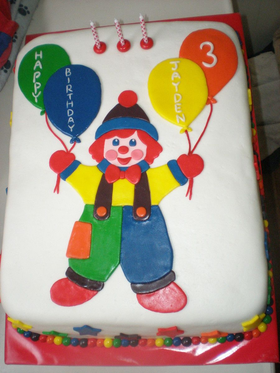 Gymbo The Clown Cake  Harriets 3rd Birthday Party in