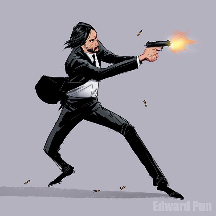 John Wick John Wick Movie Keanu Reeves John Wick Fan Art Drawing