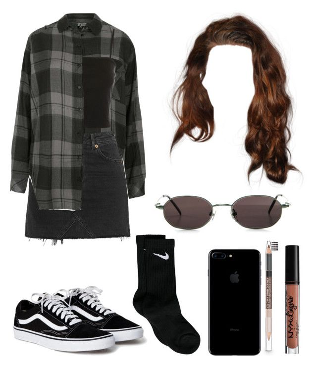 """""""#464"""" by tamar4eveselinoska on Polyvore featuring Topshop, Gucci, NYX, The Body Shop and NIKE"""