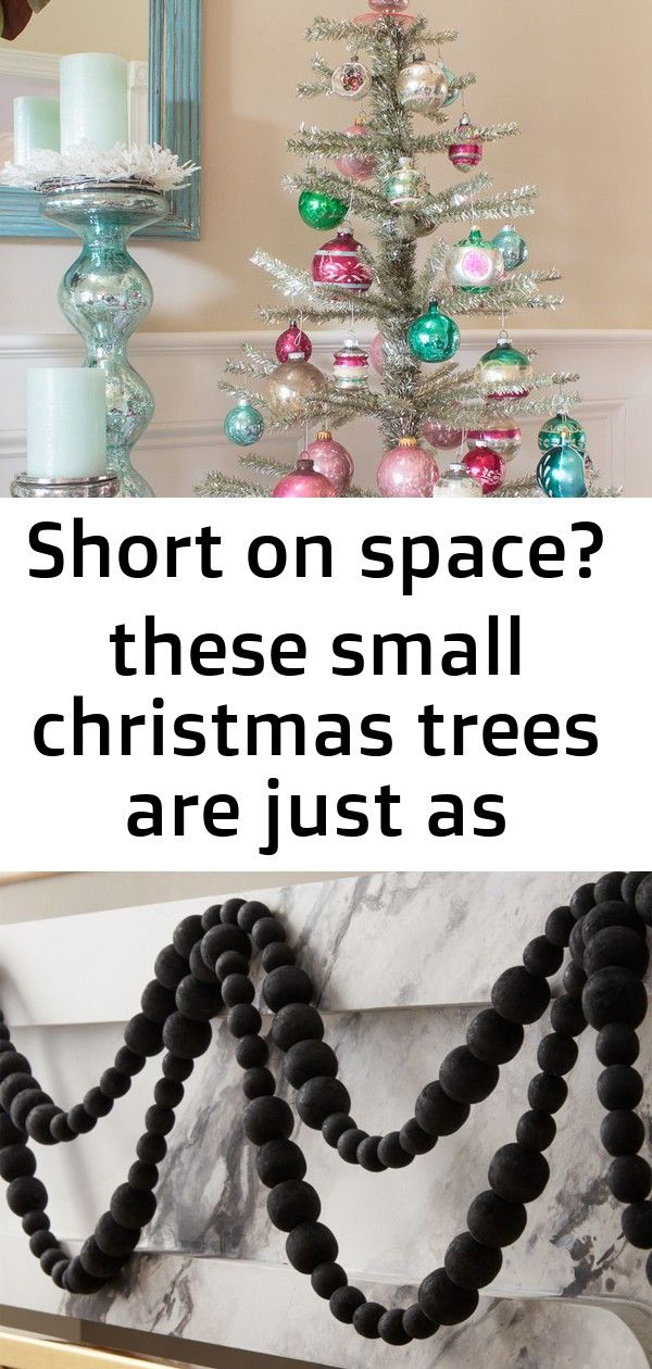Short on space? these small christmas trees are just as practical as they are adorable 14 #blackchristmastreeideas