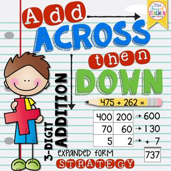 expanded form strategy  Three-Digit Addition: Expanded Form Strategy | | 15rd Grade ...