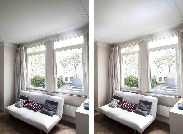 before after avant apr s light reflector room. Black Bedroom Furniture Sets. Home Design Ideas