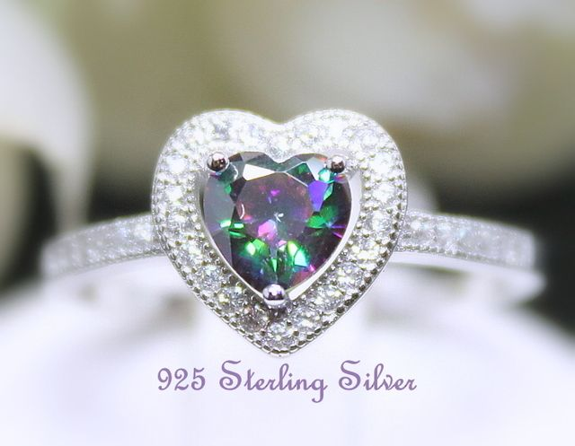 925 Sterling Silver Polished Brilliant Cut CZ Solitaire Engagement Ring Sz 6-8