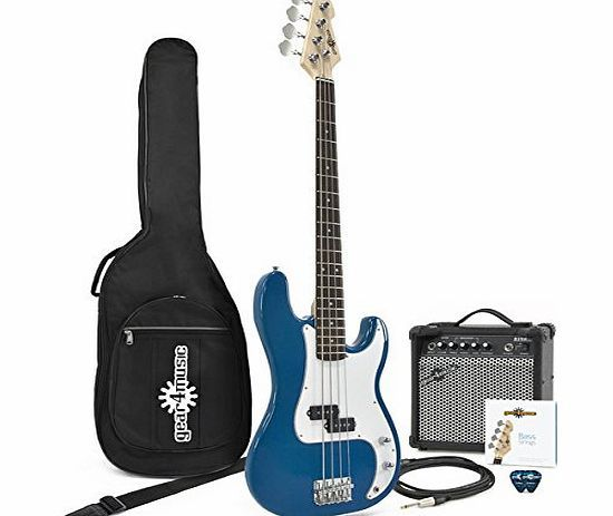 Gear4Music LA Bass Guitar   Amp Pack Blue The LA Bass Guitar and Amp Pack by Gear4music features our LA Bass Guitar in Blue plus our 15W Bass Amplifier and comes bundled with a durable padded gig bag spare strings a lead and picks making this http://www.comparestoreprices.co.uk/bass-guitars/gear4music-la-bass-guitar- -amp-pack-blue.asp