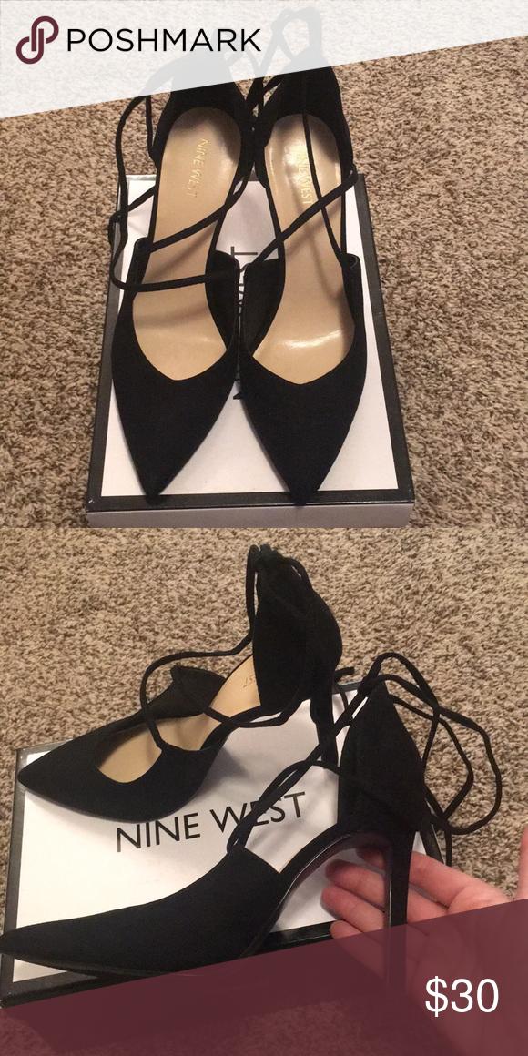 Nine West Black strappy heels Black
