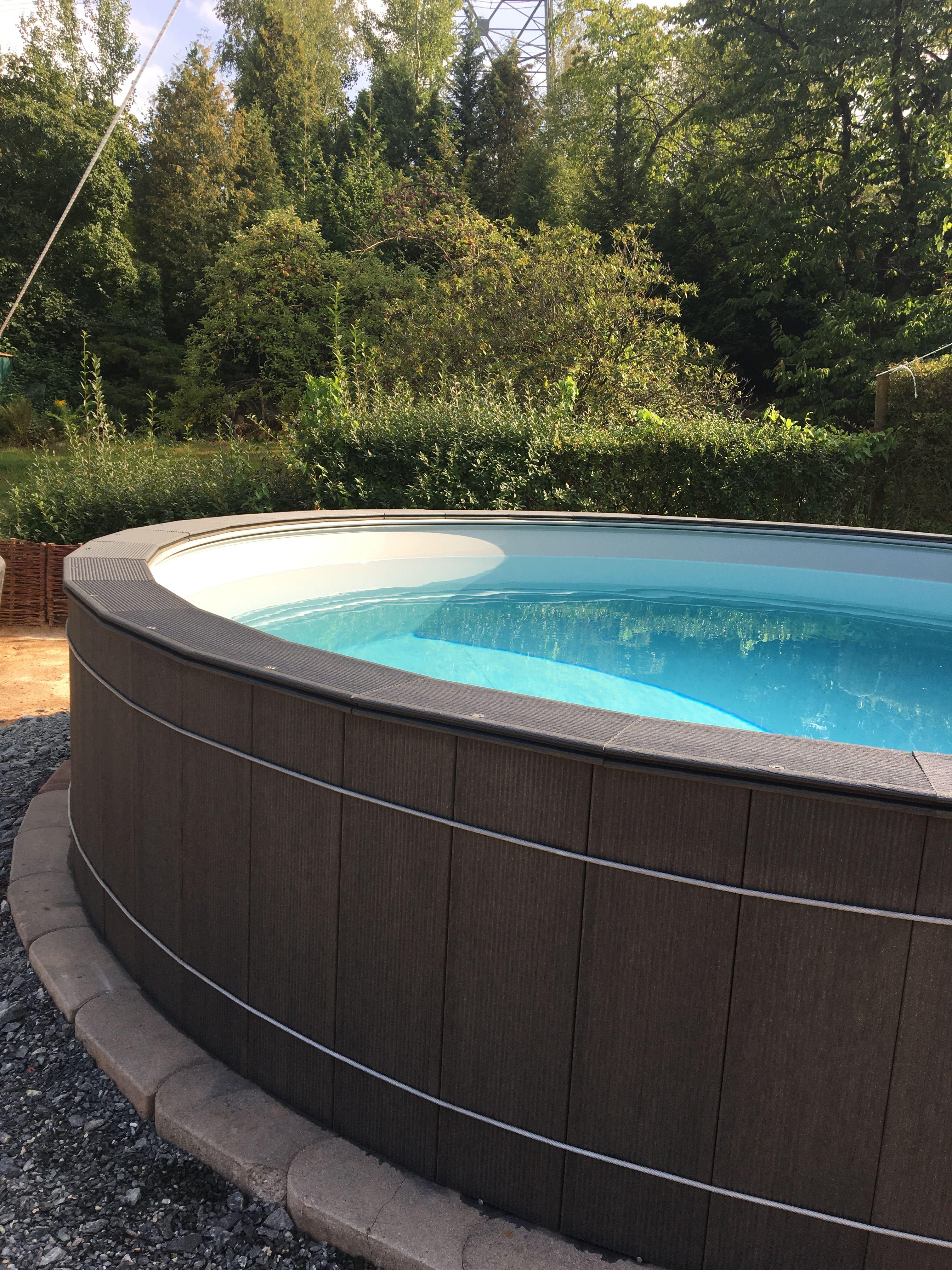 Poolumrandung Wpc Auf Conzero Gartenpools Pool Im Garten Pool Terrasse