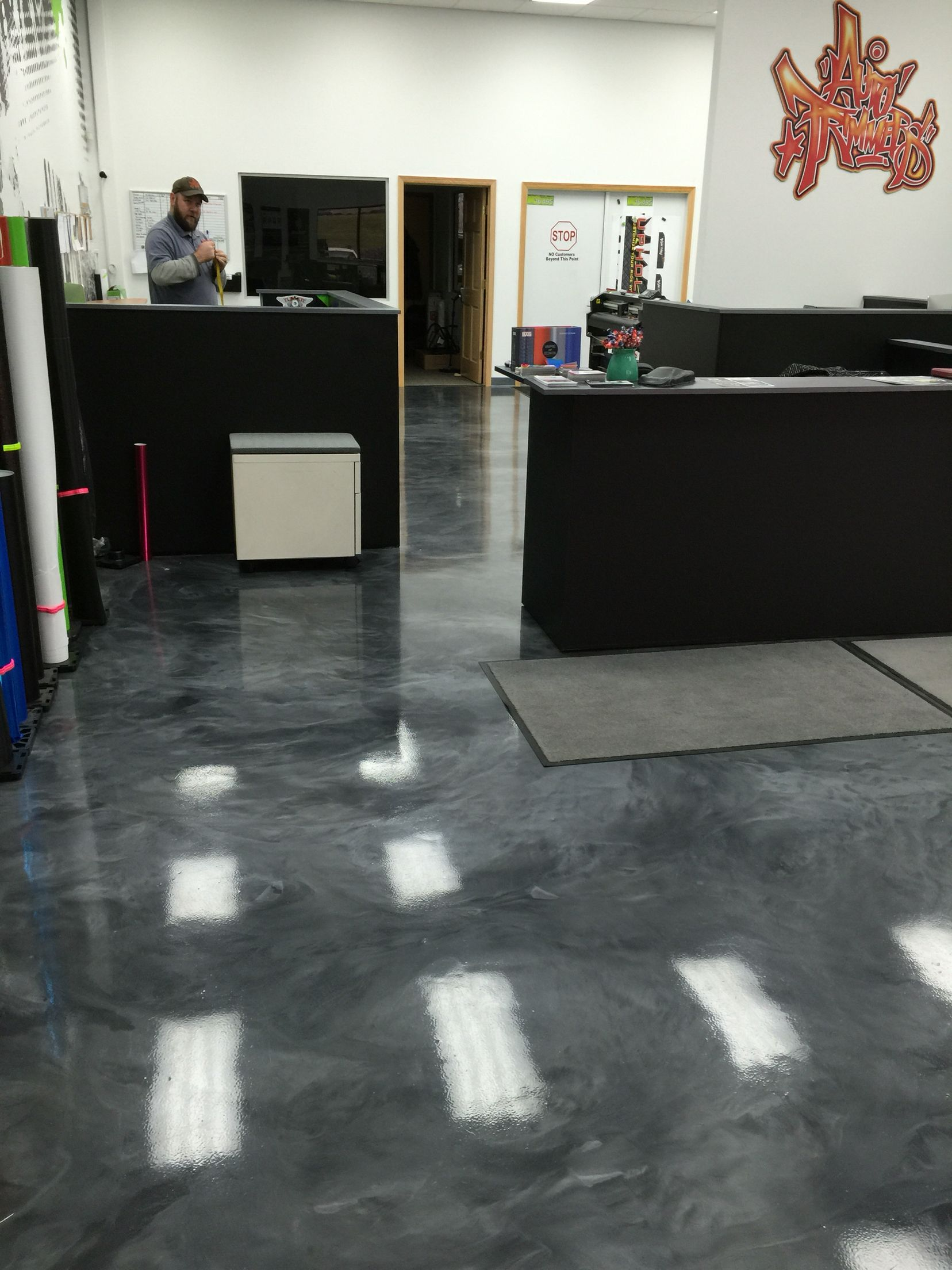 Epoxy Kitchen Flooring Metallic Epoxy Floor Coating Installed For A Print Shop By Sierra