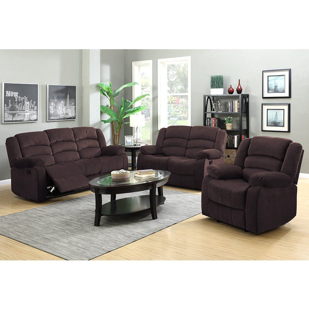 amazon: langria 3-seat reclinable sofa and reclining loveseat