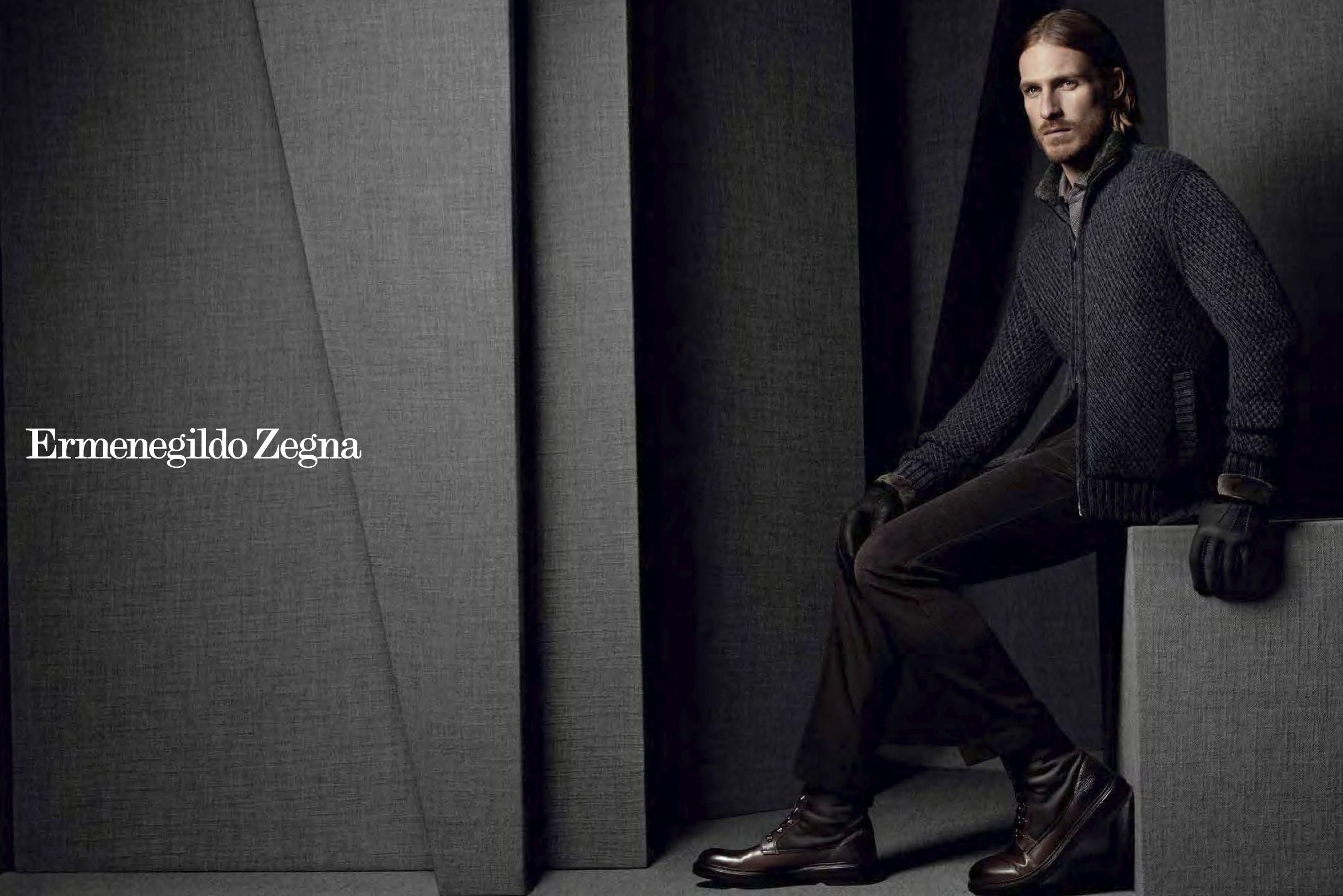 efee57d81404 Ermenegildo Zegna AW13 ad campaign featuring American model Ryan Burns