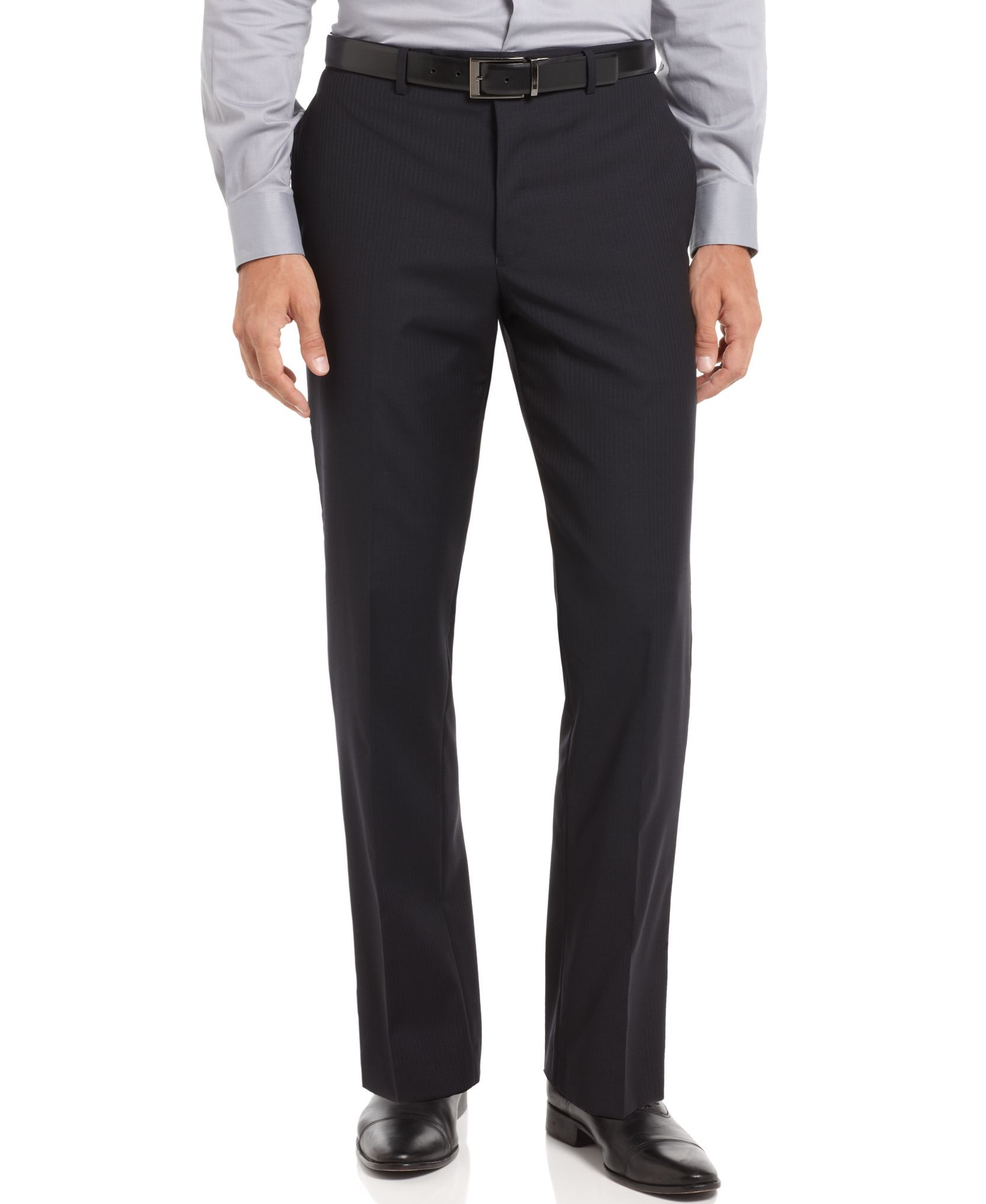 Edwards Mens Business Casual Pleated Pant BLACK 50