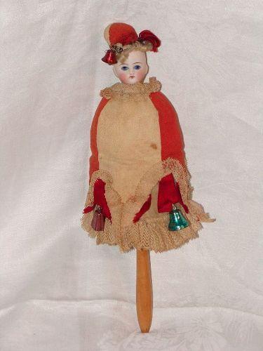 All Original Musical Marotte - Bayberry's Antique Dolls #dollshopsunited