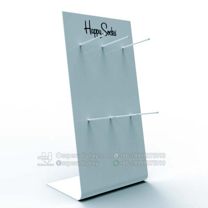 Custom Pos Bend Metal Countertop Socks Display Rack For Retail