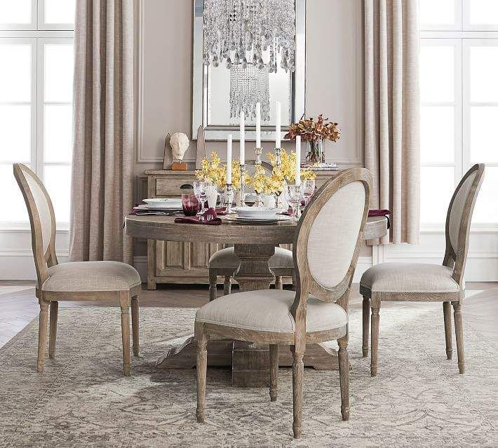 Linden Round Pedestal Dining Table In