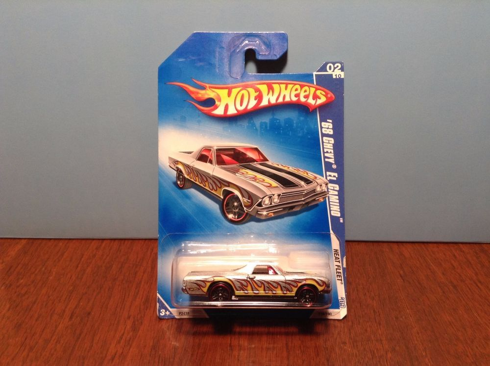 Hot Wheels 68 Chevy El Camino 118 Heat Fleet 2009 Silver 1968 W