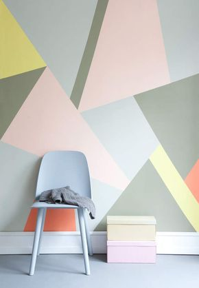 Inspiration  une déco pastel et géométrique Showroom, Ceilings - Poser Papier A Peindre