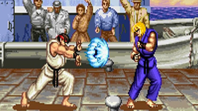 In Super Street Fighter II Turbo, have fun playing an