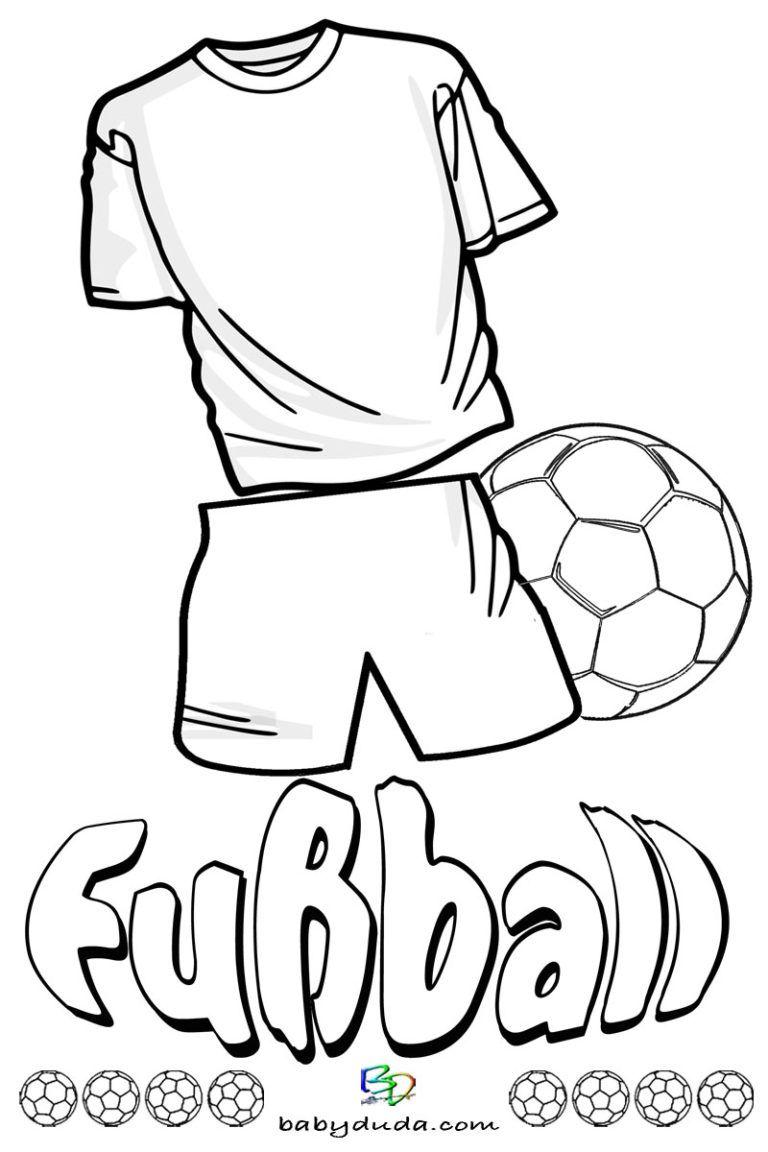 Fußball Ausmalbilder Spielfeld Ball Fußballfieber Wm