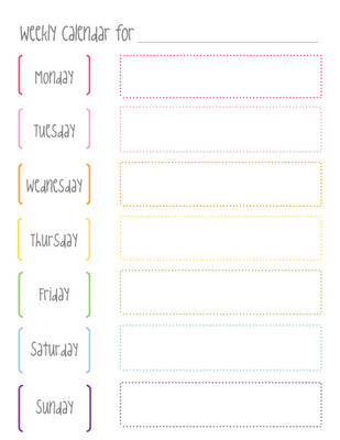 Cute Weekly Calendar Template Pin By Sherrie Lora On Master