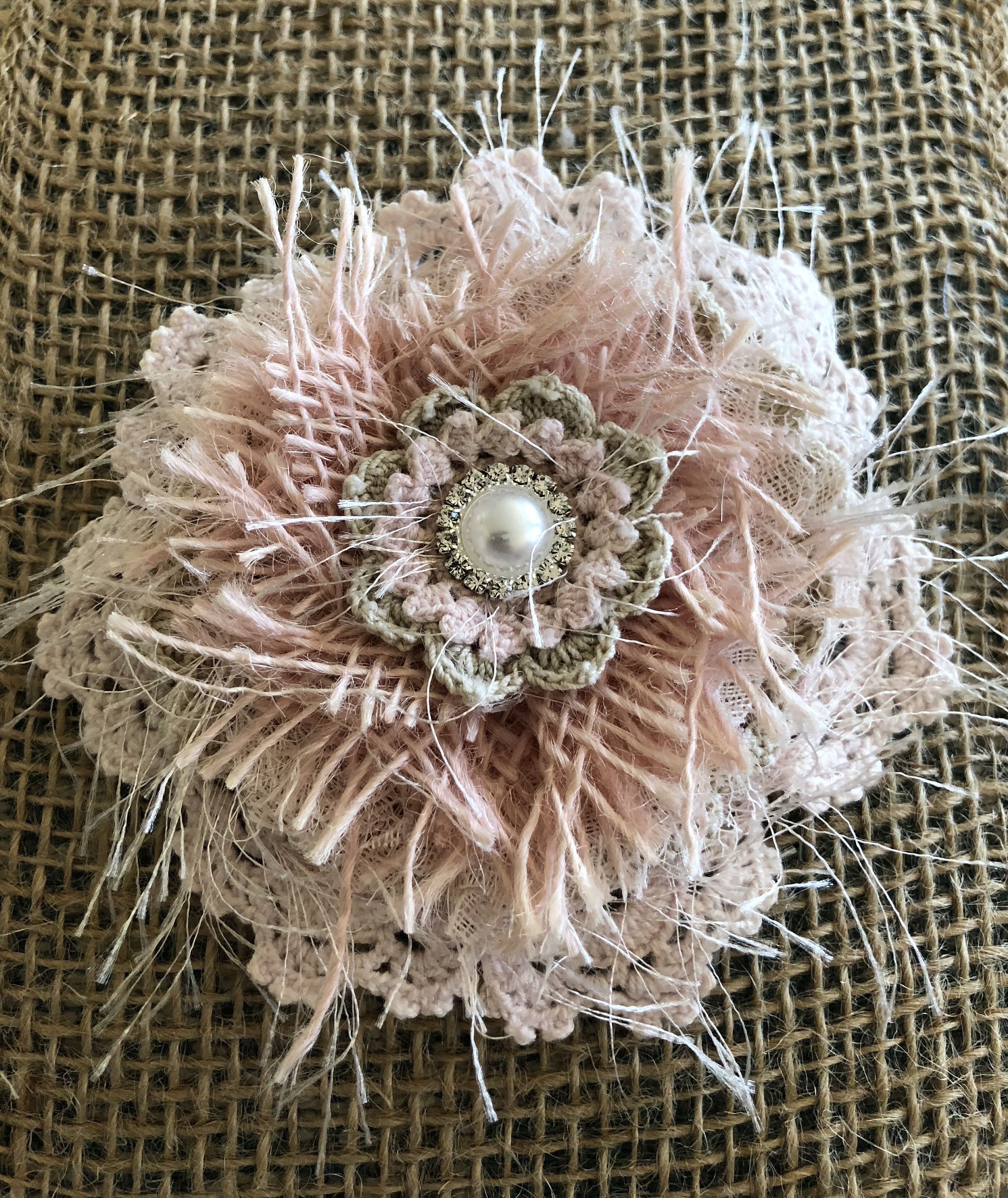 Items similar to Rose Gold Pink Shabby Chic Wedding Flower, Wedding Decor, Shabby Chic Fabric Flower, Bridal Decor,Headband Flower,Wedding Bridal accessory on Etsy