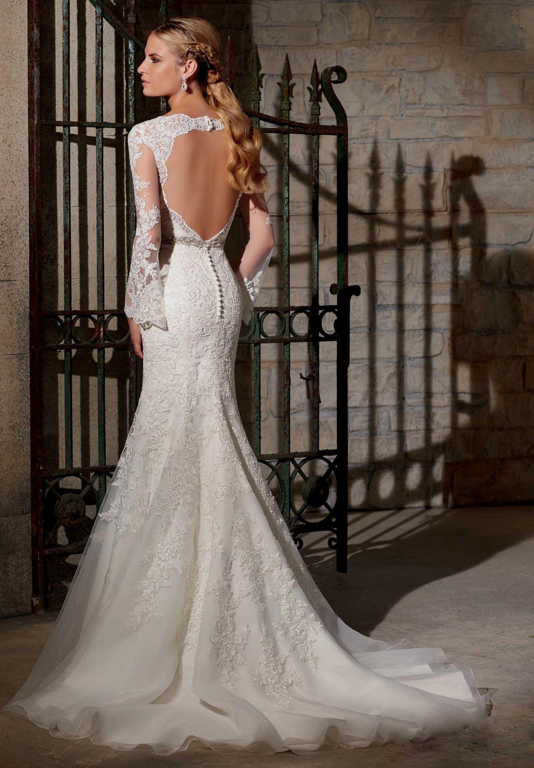 34080bbc Wedding Dresses Lace Sleeves Open Back - raveitsafe