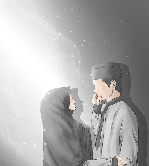 31 Gambar Kartun Muslimah Berpasangan Kumpulan Gambar Kartun Muslimah Couple Bercadar Cara Baruq Download Cute Muslim Couples Cute Couple Art Anime Muslim