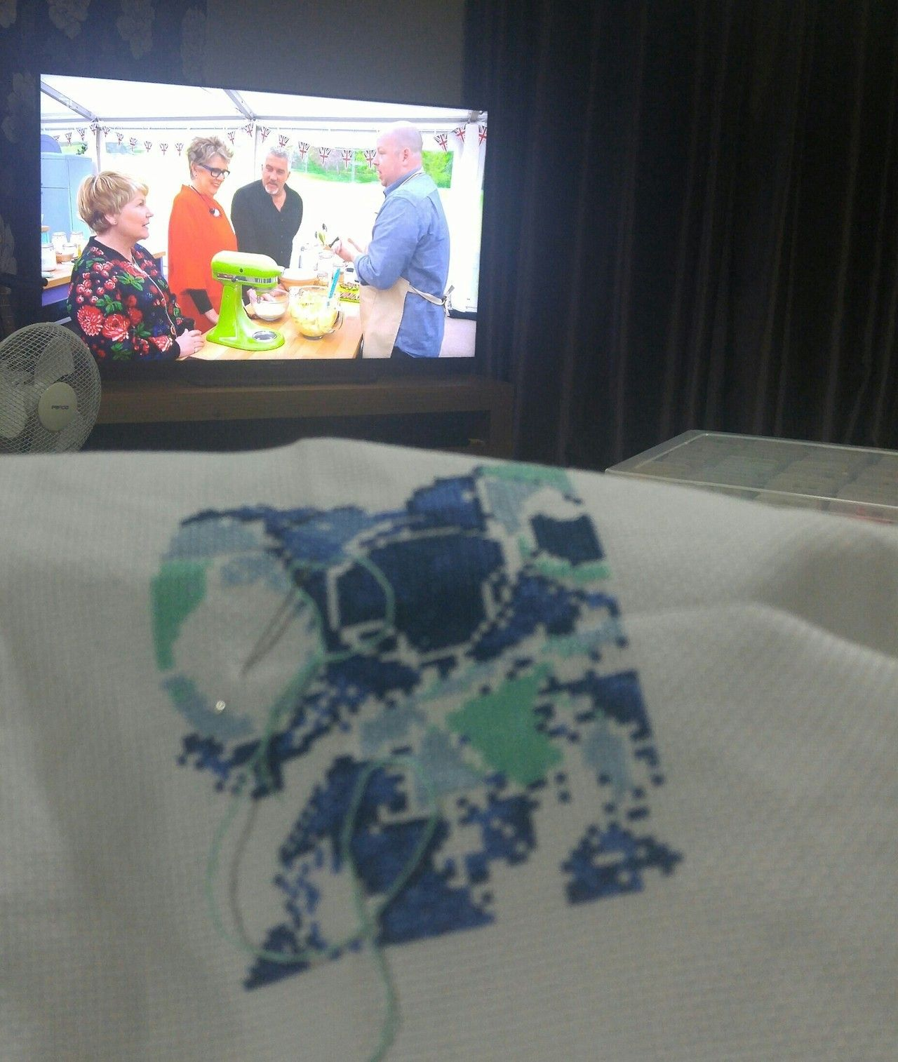 Cross stitch and Great British Bake Off. I have reached peak grandma. - #& #2017: #bake #british #crafts #cross #gbbo #great #handmade #needle #needlework #off #sewing #stitch #thread #xstitch