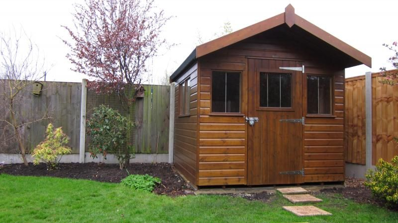 Garden Sheds Installed superior shed with overhang | garden sheds | pinterest | gardens
