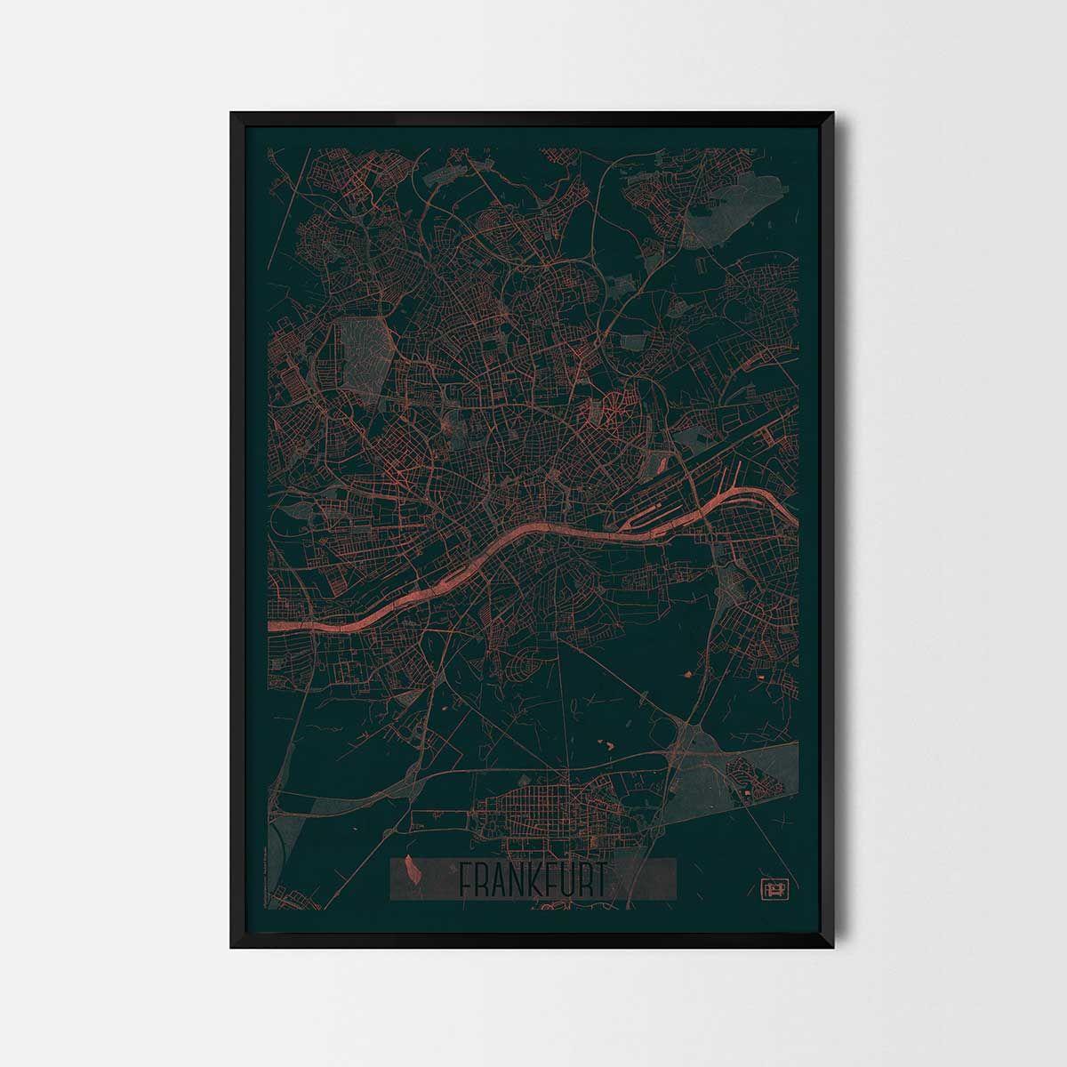 Frankfurt city posters - City Art Posters and prints | Geschenke für ...