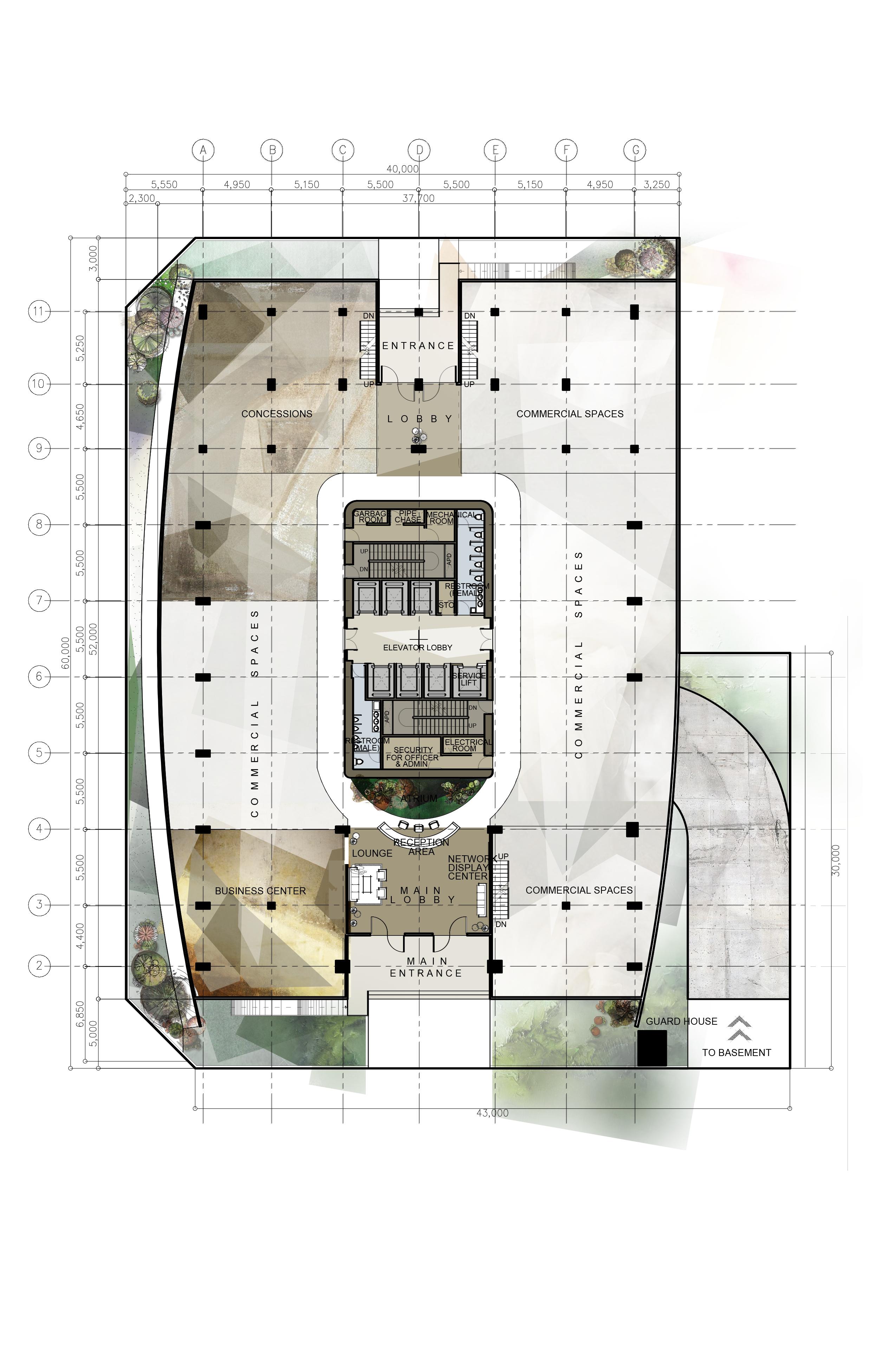Design 8 Proposed Corporate Office Building High Rise Building Architectural Layouts Floor Plans Plates Arsitektur Modern Denah Rumah Arsitek