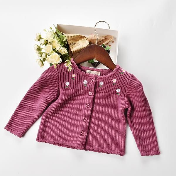 7e1f3de7d511 Rampampam Baby Girls Flora Knit Sweater Clothing - Apple Quince ...