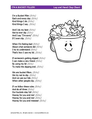 Bucket Filler Chant Bucketfillers Bucket Filler Bucket Filler Activities Friendship Theme If you are happy with this, please share it to your friends. bucket filler chant bucketfillers