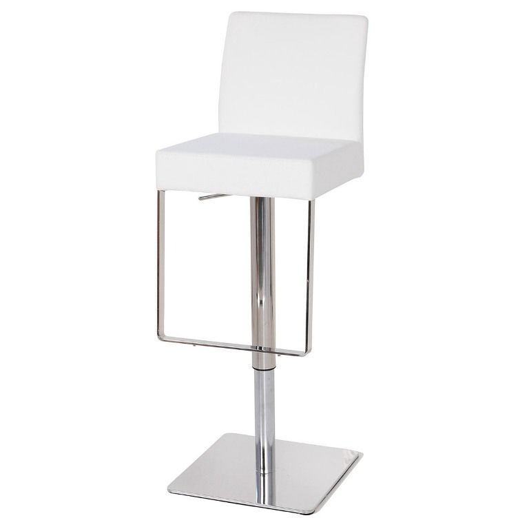 interior illuminated modern white leather bar stools from the